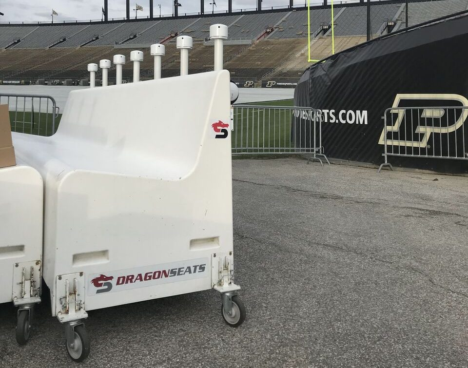 Portable Sports Sideline Benches Dragon Seats